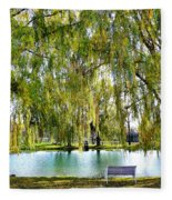 Finger Lakes Weeping Willows Fleece Blanket