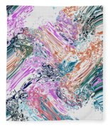 Finger Paint Fleece Blanket