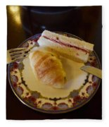 Finger Sandwiches For Traditional Afternoon Tea Fleece Blanket
