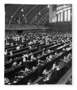 Fingerprinting At The Federal Armory 1945 Fleece Blanket