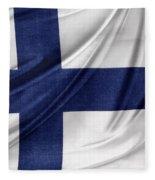 Finnish Flag Fleece Blanket