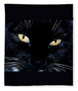 Fiona The Tuxedo Cat Fleece Blanket