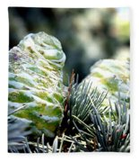 Fir Cone Fleece Blanket