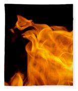 Fire 006 Fleece Blanket
