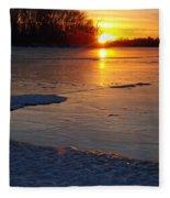 Fire And Ice Fleece Blanket