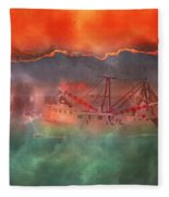Fire And Ice Misty Morning Fleece Blanket
