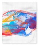 Fire And Ice Smoke II Fleece Blanket