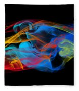 Fire And Ice Smoke  Fleece Blanket
