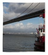 Fire Boat #2 Fleece Blanket