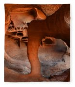 Fire Cave Windstone Arch Nevada Fleece Blanket