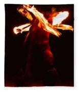 Fire Dancer 1 Fleece Blanket
