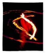 Fire Dancer 2 Fleece Blanket