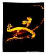 Fire Dancer 3 Fleece Blanket