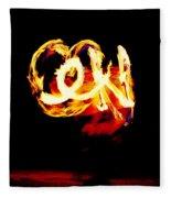 Fire Dancer 4 Fleece Blanket