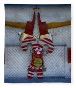 Fire Department Christmas 3 Fleece Blanket