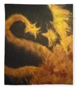 Sun Dragon Fleece Blanket