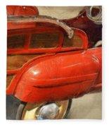 Fire Engine Pedal Car Fleece Blanket