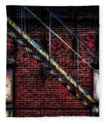 Fire Escape And Windows Fleece Blanket