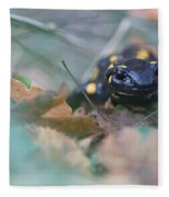 Fire Salamander Front View Fleece Blanket