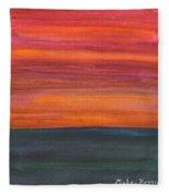Fire Sky Over The Sea Fleece Blanket