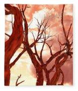 Fire Trees Fleece Blanket
