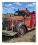 Fire Truck International Harvester C. 1946 Fleece Blanket