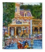 Fire Truck Main Street Disneyland Photo Art 02 Fleece Blanket