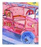 Fire Truck Fleece Blanket