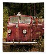 Fire Truck With Texture Fleece Blanket