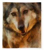 Fire Wolf Fleece Blanket