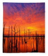 Fired Up Morn Fleece Blanket