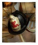 Firefighter - Somewhere To Hang Hat  Fleece Blanket