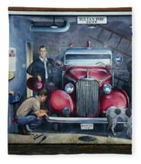 Firehall Mural Sultan Washington 1 Fleece Blanket