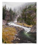 Firehole Canyon - Yellowstone Fleece Blanket