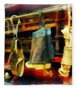 Fireman - Boots And Fire Gear Fleece Blanket
