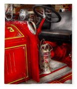 Fireman - Fire Engine No 3 Fleece Blanket