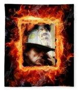 Fireman Hero Fleece Blanket