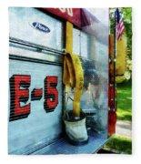 Fireman - Hose In Bucket On Fire Truck Fleece Blanket