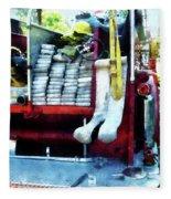 Fireman - Hoses On Fire Truck Fleece Blanket