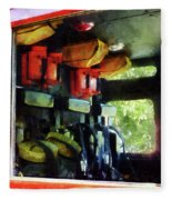 Fireman - Inside The Fire Truck Fleece Blanket
