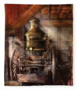 Fireman - Steam Powered Water Pump Fleece Blanket