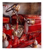 Fireman - Truck - Waiting For A Call Fleece Blanket