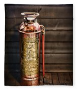 Fireman - Vintage Fire Extinguisher Fleece Blanket