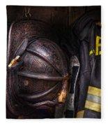Fireman - Worn And Used Fleece Blanket