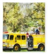 Firemen - Back At The Firehouse Fleece Blanket