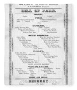 Firemen Dinner Menu - San Francisco - 1856 Fleece Blanket