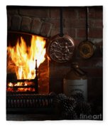 Fireplace Fleece Blanket