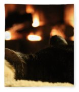 Fireside Cat Nap Fleece Blanket