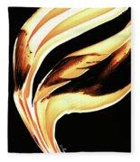 Firewater 2 - Buy Orange Fire Art Prints Fleece Blanket
