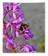 Fireweed Bee Fleece Blanket